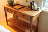 Country Pine 3 Drawer Hall Table