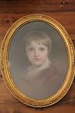 Pastel Portrait of Young Boy