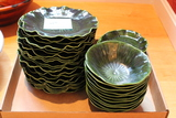 (42) Porcelain Lily Pad Dishes