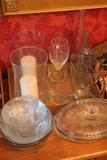(19) Assorted Glassware