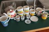 (14) Tea Cups and Tea Pot