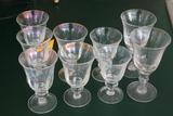 (9) Glass Goblets