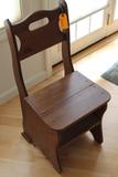 Hardwood Convertible Chair / Step Stool