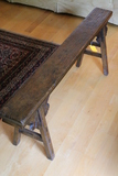 Carved Mortis and Tenon Construction Continental Oak Bench