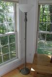 Patinated Metal Standing Lamp