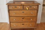 Vintage Continental 2 Drawer over 3 Drawer Bureau