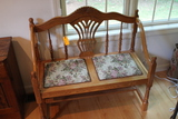 Carved Oak Chair with Tapestry Seat