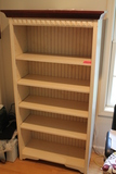 Adjustable Wood Bookcase with Crown Moulding Top