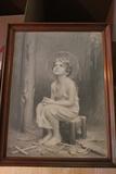 Framed Print of Gazing Child