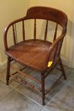 Oak Firehouse Windsor Chair