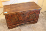Antique Painted Dovetailed Blanket Box