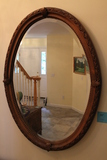Bevelled Oval Mirror with Ornate Frame