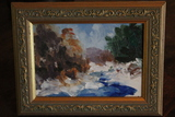 Bob Dikon Oil on Artist Board Painting