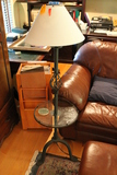 Wrought Iron Standing Lamp with Glass Tray