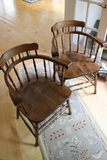 Pair of Firehouse Windsor Arm Chairs