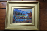 Robert W. Duffy  Oil on Board Painting