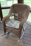 Synthetic Wicker Rocker with Cushion