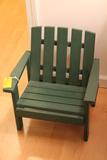 Green Painted Child Adirondack Chair
