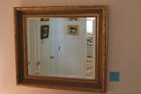Gilt Framed Bevelled Mirror