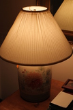 Patton Stoneware Paint Decorated Table Lamp