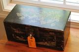 Vintage Oriental Painted Desk Box