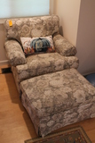 C.R Laine Upholstered Easy Chair with Matching Ottoman