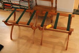 Pair of Folding Cherry Luggage Stands