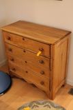Antique Pine 4 Drawer Bureau