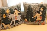Pair of Cotton Throw Pillows