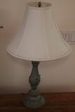 Patinated Metal Table Lamp