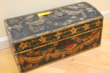 Vintage Paint Decorated Dome Topped Box