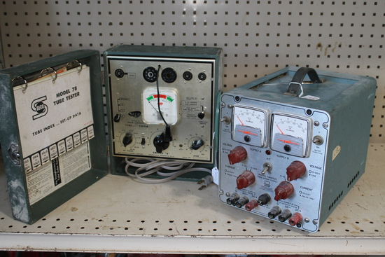 Ambitrol Twin Power Supply & Seco Tube Tester 78