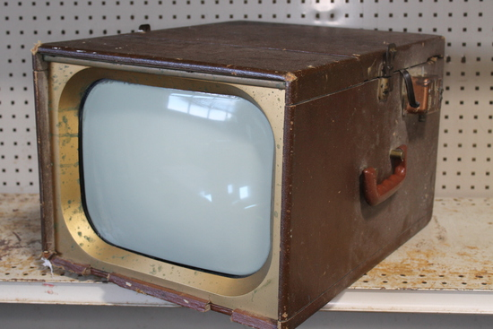 Vintage B/W Portable Television