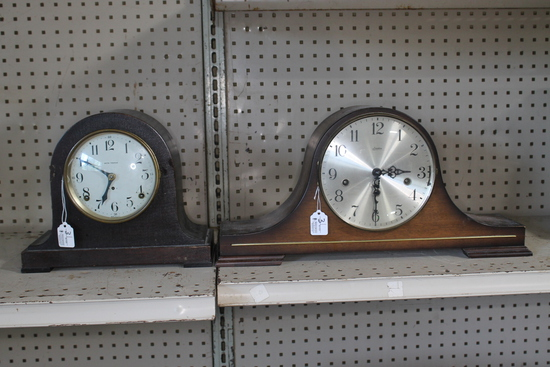 (2) Vintage Mantle Clocks