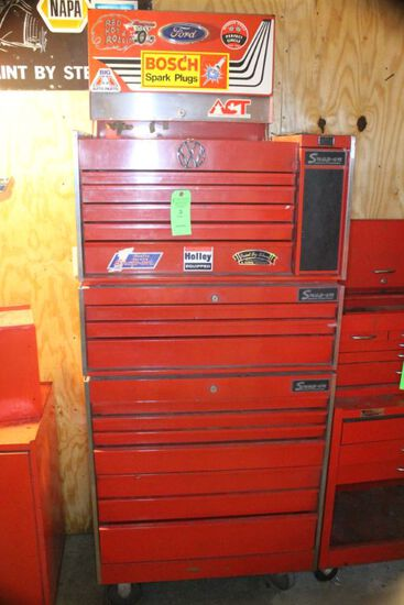 Snap-on Three Part Rolling Toolbox w/ (14) drawers