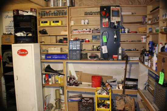 Contents of Back wall & Loft in Tool Room