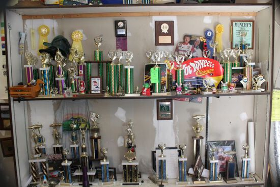 Trophy Cabinet w/ Trophies