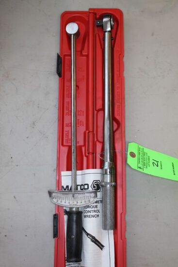 (2) 1/2 Inch Torque Wrenches