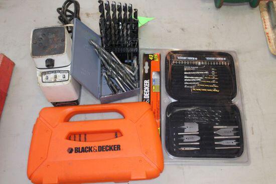 Asst. Drill Indexes & Black & Decker Drill Sharpener
