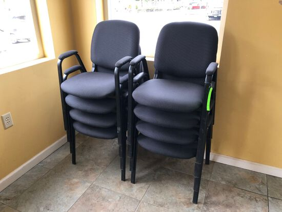(8) Upholstered Stacking Chairs