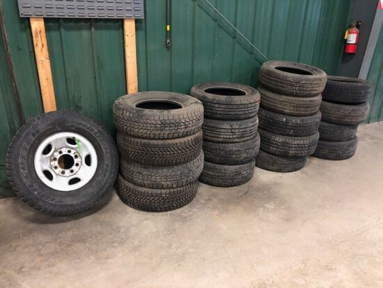 Lot: Misc. Used Car & Truck Tires