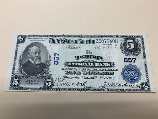 1902 U.S. $5.00 National Currency Note