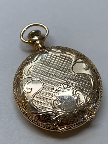 Antique Elgin Ladies Pocket Watch with 14K Yellow Gold Case
