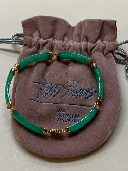 Six Section Oriental Jade Bracelet