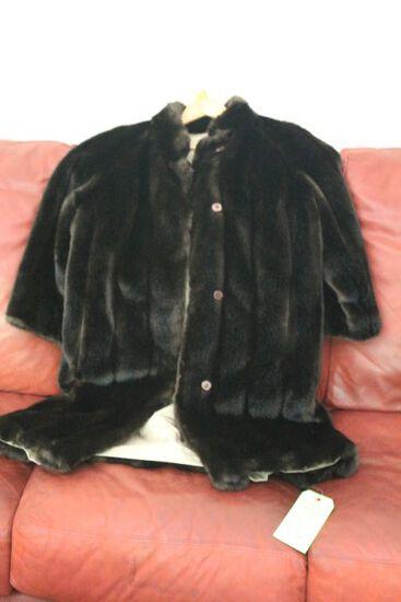 Ladies Reversible Faux Mink Coat