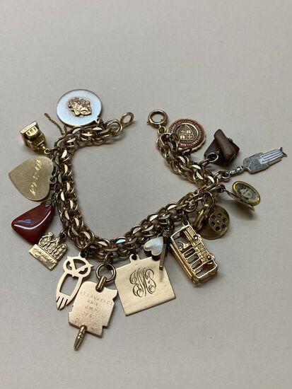 Gold Fill Charm Bracelet