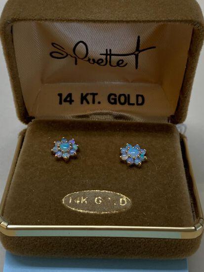 Pair of 14K Yellow Gold Stud Earrings
