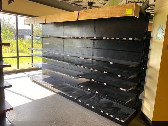 Lozier 12' Double Side Gondola Shelf Unit