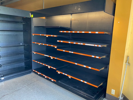 Lozier 8' Single Side Gondola Shelf Unit