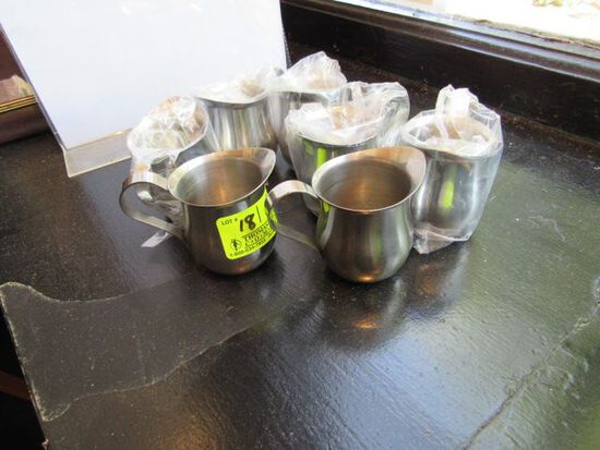 (7) Stainless Steel Creamers